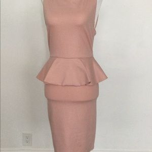 Fitted soft pink dress